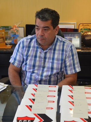 Amadeu Rodrigues, presidente FPF, (Foto: Edgley Lemos / GloboEsporte.com/pb)