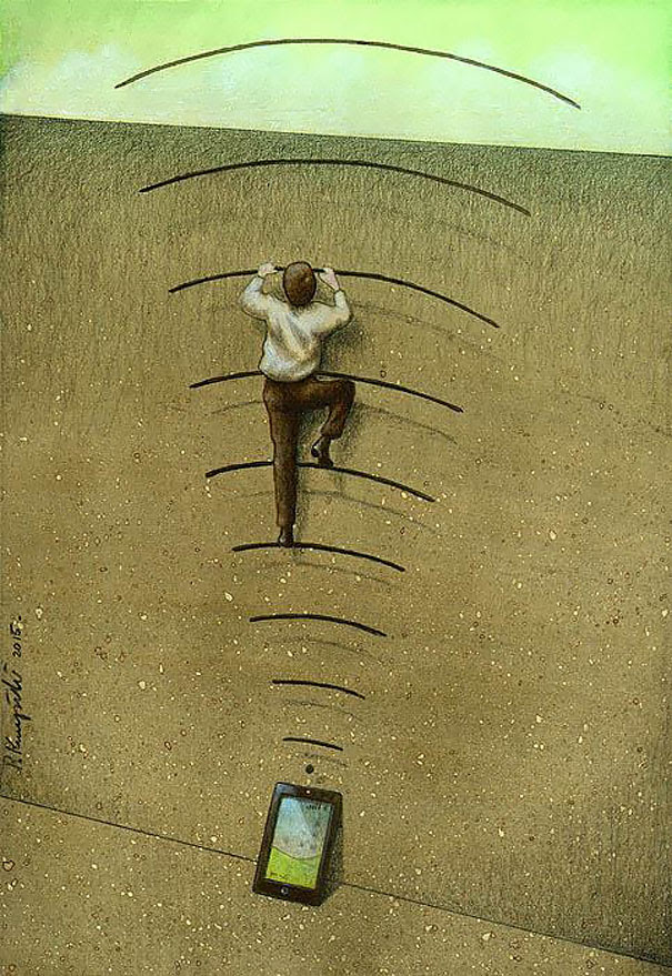 AD-Satirical-Illustrations-Show-Our-Addiction-To-Technology-36