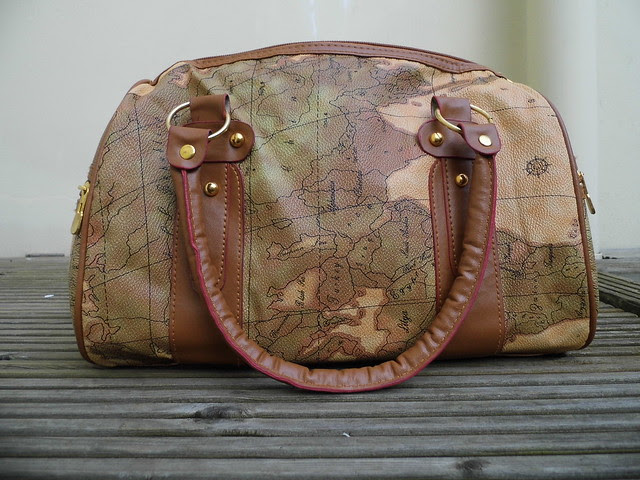 Chloe Map Atlas Print Handbag