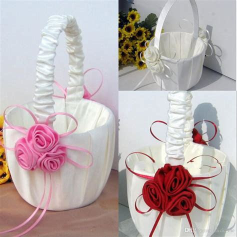 2019 Flower Girl Baskets For Wedding Favors Basket