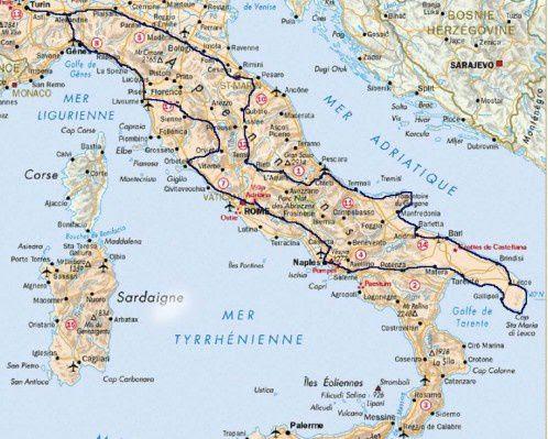 Carte Italie Du Nord Bord De Mer
