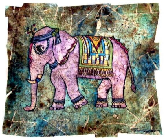 Print -Royal Elephant 7.5x8