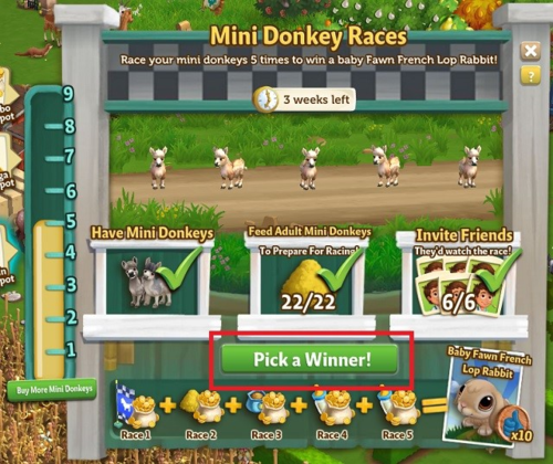 Mini Donkey Race - FarmVille 2