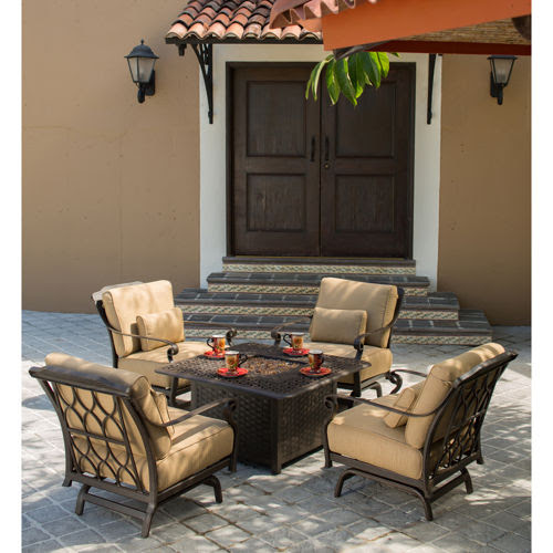 Patio Set With Fire Pit TablePatio Set With Fire Pit Table   Laura Williams. Fire Pit Patio Sets Costco. Home Design Ideas