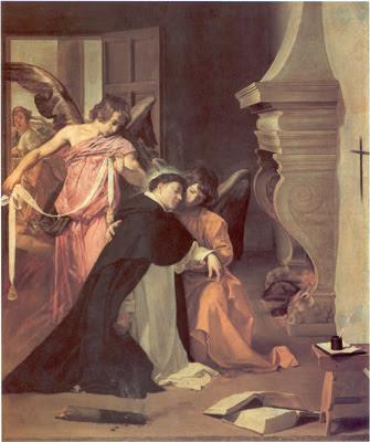 Thomas de Aquino a Velázquez depictus (Temptatio Sancti Thomae, Museo Diocesano, Orihuela [España])