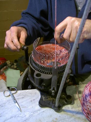 Mechanical sock knitting guy