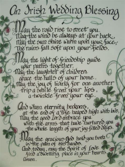 Irish Wedding Blessing  I need an Irish husband for my