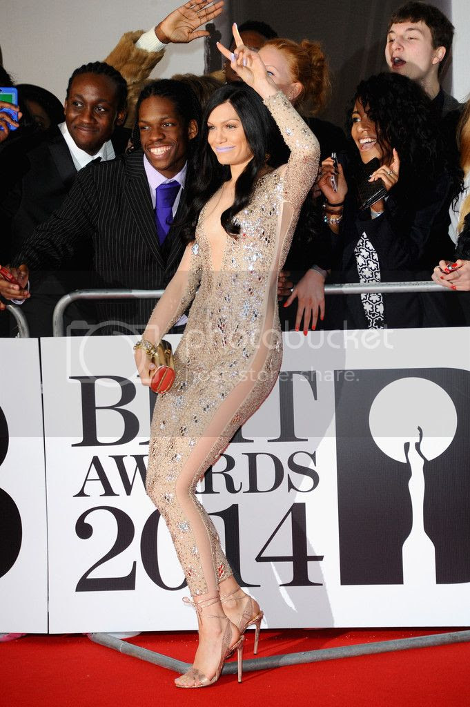 Jessie J's red carpet look at Brit Awards...