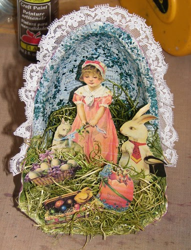 Easter Collage - Recycled Reese's Container 015
