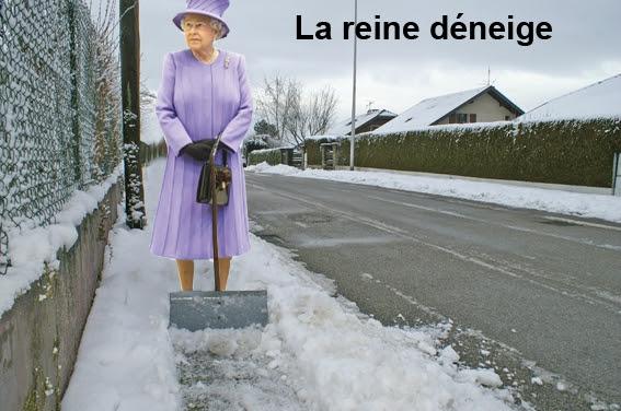 La reine déneige