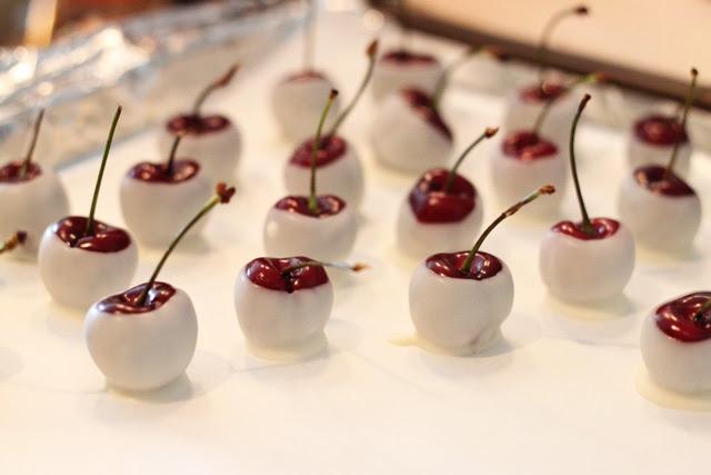 Amaretto Soaked White Chocolate Cherries Taryn Williford