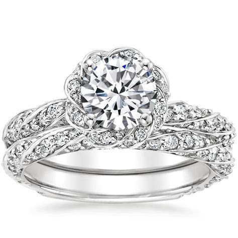 Sparkling Pavé Engagement Rings   Brilliant Earth