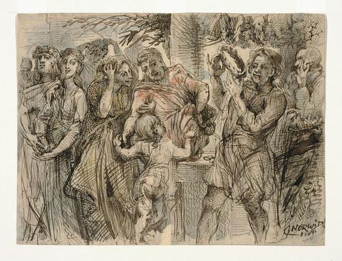 015- Escena alegorica de la corona de laurel-Cyprian Kamil Norwid- 1821-1883