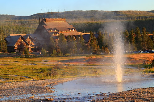 IMG_7024L Old Faithful Inn at Sunset, Yellowstone National Park