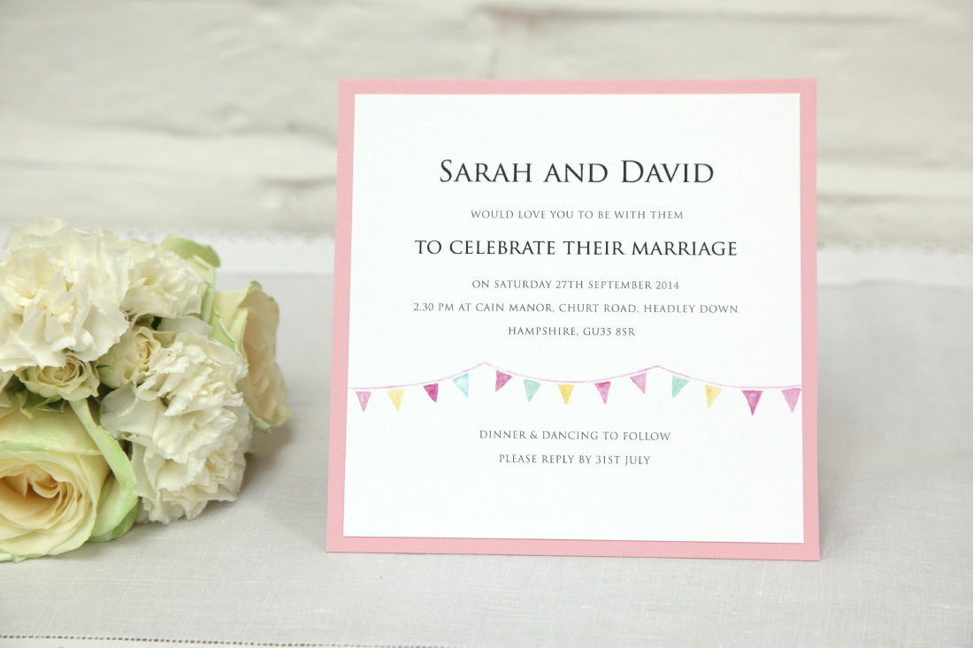 Cool wedding invitations for the ceremony: Pretty wedding invitations uk