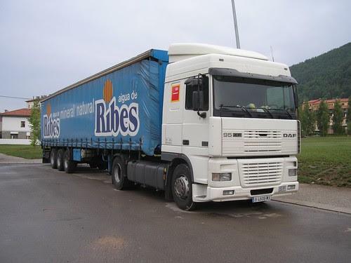 camió Daf a Ripoll (Girona)