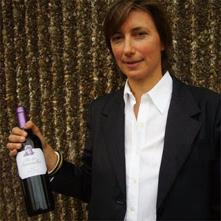 Caroline Chanfreau-Philippon with Clos des Demoiselles 2005