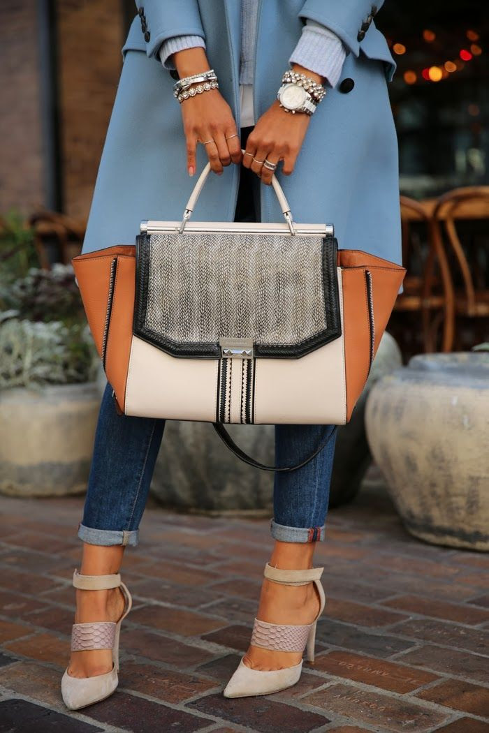 Love this purse with these shoes and jeans!