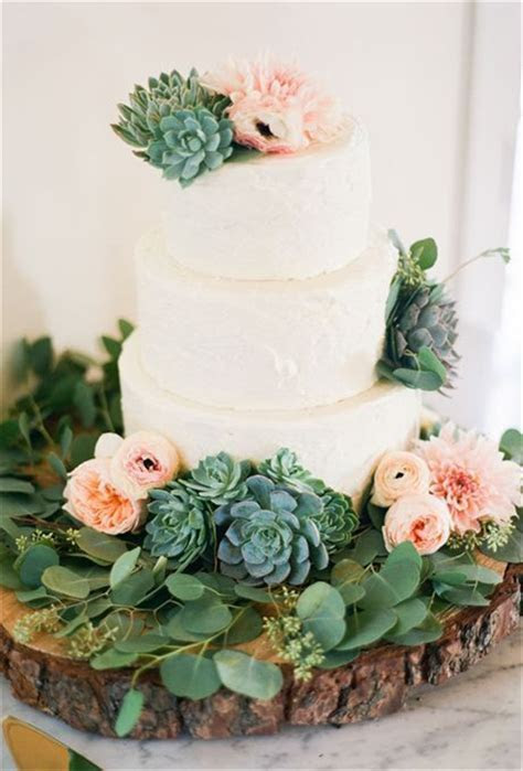 20  Succulent Wedding Cake Inspiration That Wow!!