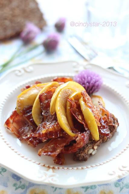 Æbleflæsk-fried bacon & apple