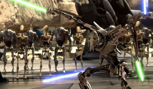 BEST VISUAL FX... General Grievous and Company are out...