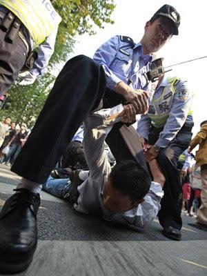 Protestos na China contra o Japão (Foto: Reuters)
