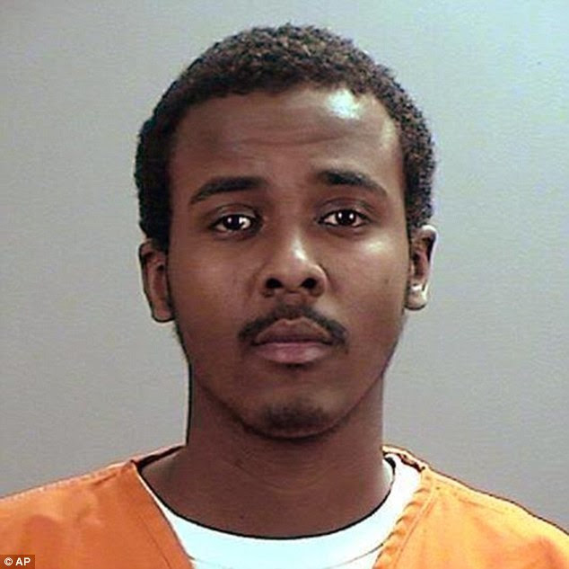Refugee: 21-year-old Abdurahman Yasin Daud, who was born at a refugee camp in Kenya and arrived in the US when he was nine. He faces trial next year for supporting