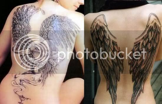sad angel tattoo. angel-wing-