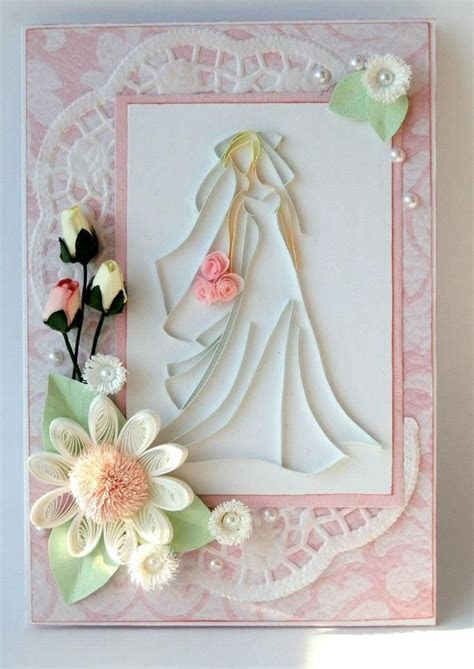 Quilling Handmade Wedding Invitation and Greeting Card