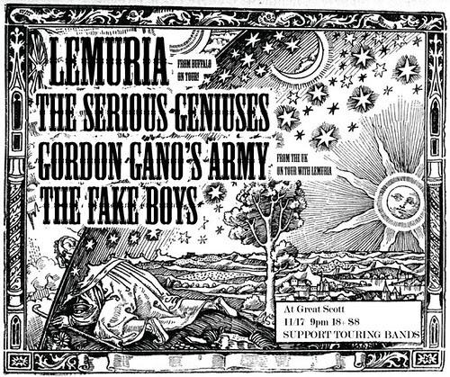 Lemuria and Gordon Gano's Army, at Great Scott