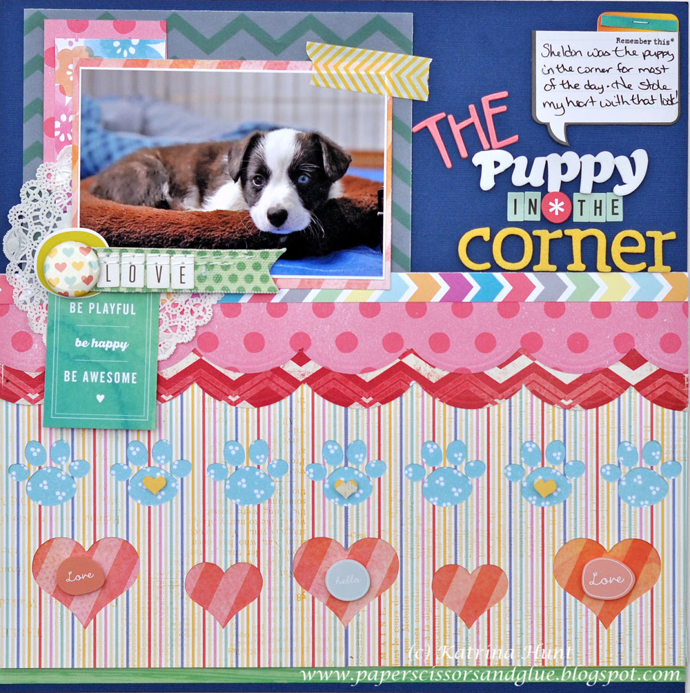The Puppy in the Corner-Gossamer Blue April #4
