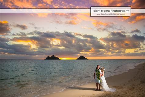 Sunrise Vow Renewal in LANIKAI BEACH OAHU HI by RIGHT