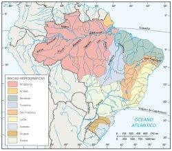 Resultado de imagem para mapa hidrografico do brasil
