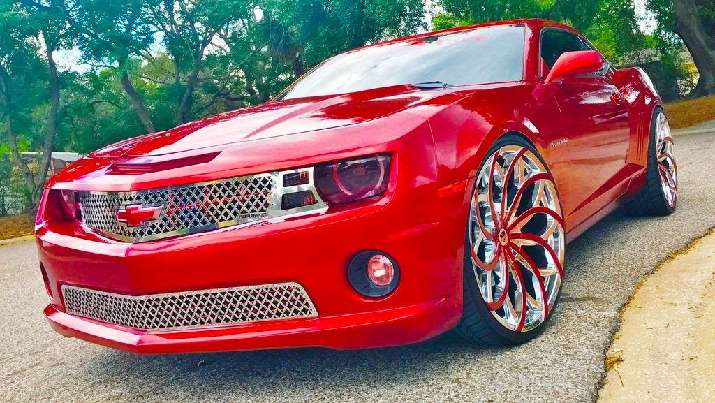 Ford Fusion Tires >> Ace-1: Yforeign's Candy Red Chevy Camaro on 26's Ventanas