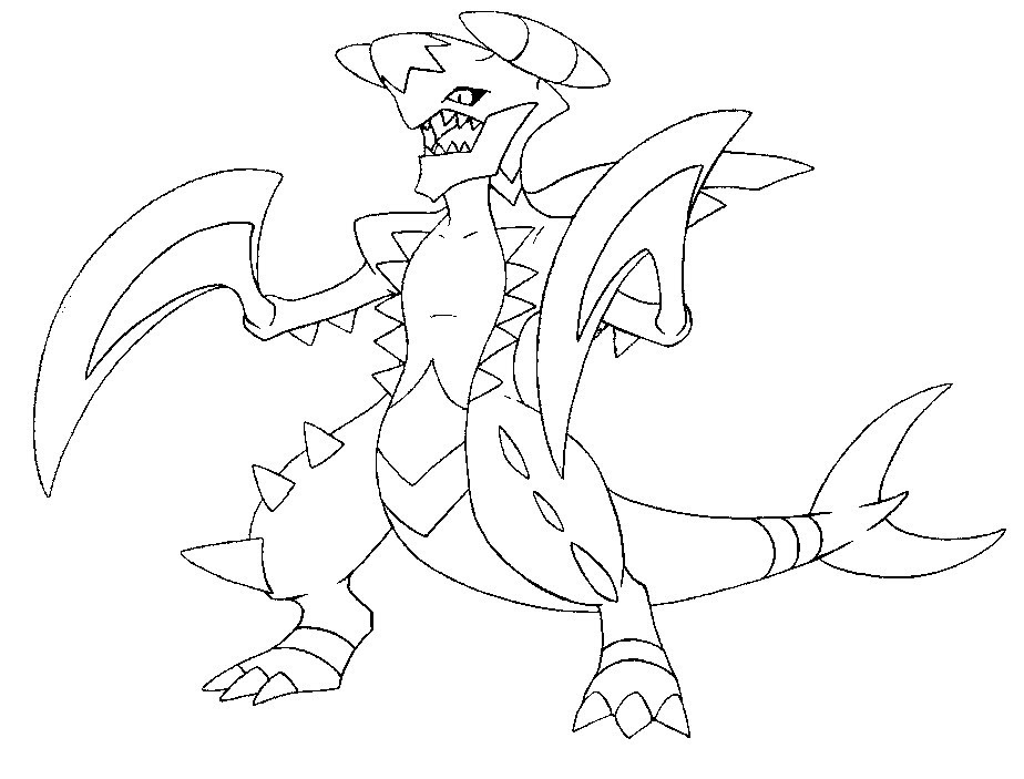 Garchomp Coloring Pages At Getdrawingscom Free For Personal Use