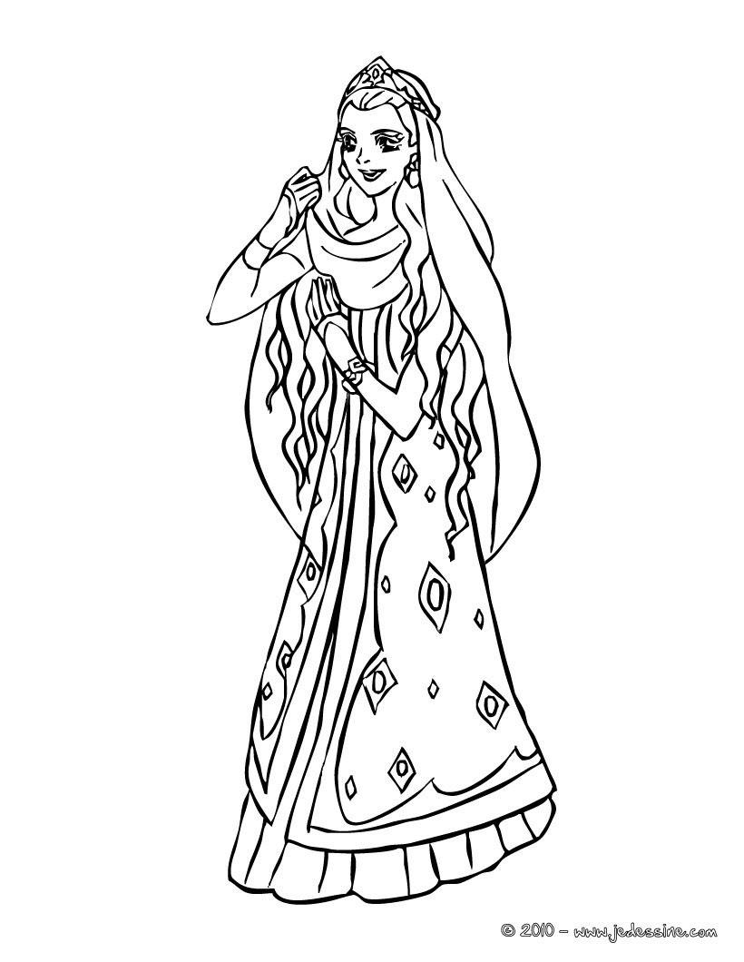 Princesse MAROCAINE  colorier