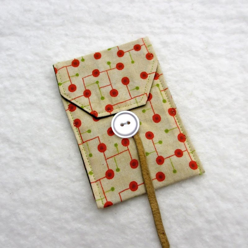 Business Card Holder, Fabric Card Case, Retro Business Card Holder