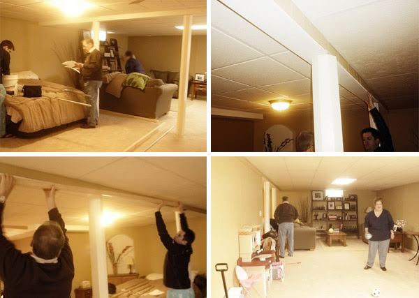 Curtain Track System Used As A Room Divider In Our Basement Kataydee