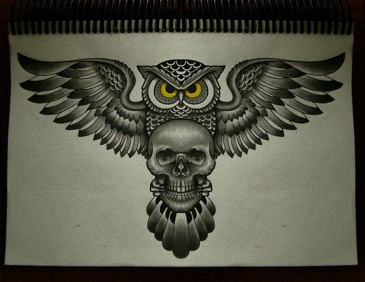 Owl Skull Tattoo Drawing Photo 3 2017 Real Photo Pictures