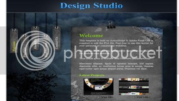 Flash Studio Photography Gray Web2.0 Template