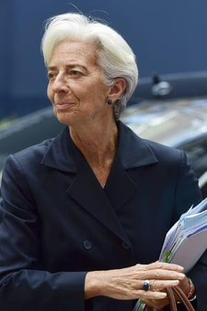International Monetary Fund (IMF) chief Christine Lagarde arrives for a Eurogroup meeting at the EU headquarters in Brussels on June 27, 2015. AFP PHOTO/ JOHN THYSJOHN THYS/AFP/Getty Images
