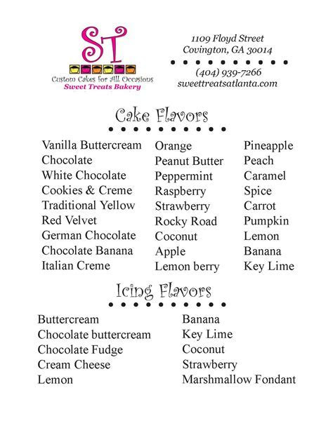 wedding cake flavors and fillings