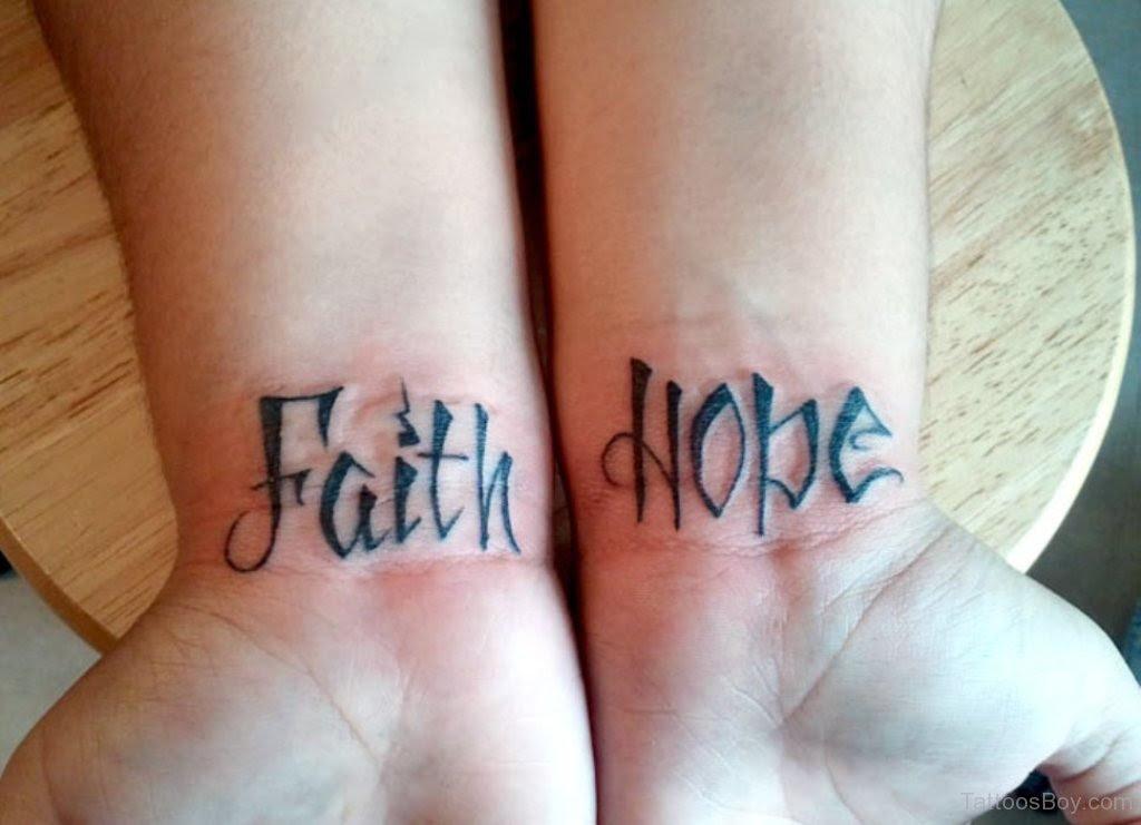 Faith Hope Tattoo On Wrist Tattoo Designs Tattoo Pictures