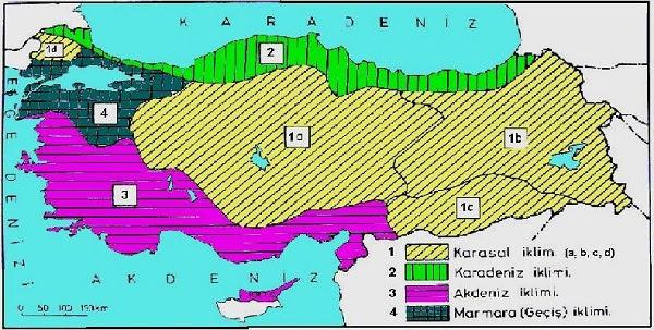 Türkiyede Görülen Iklim Tipleri