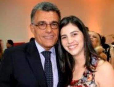 Fernando Sarney ao lado da afilhada política Priscylla Sá