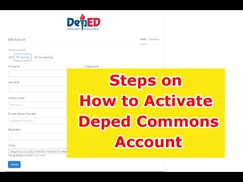 Steps on How to Activate DepEd Commons Account