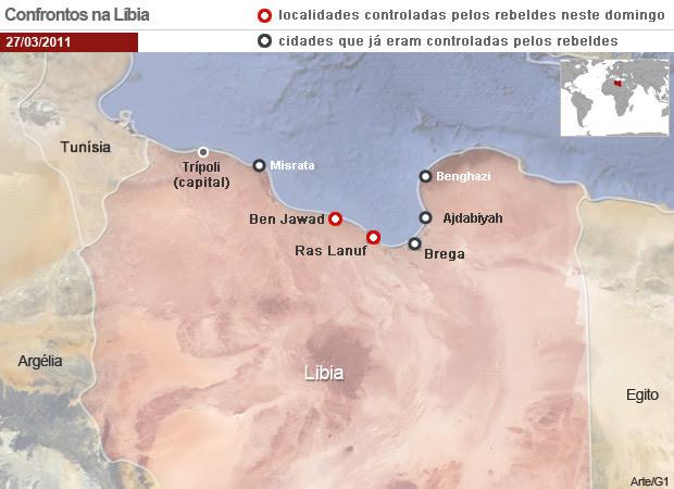 Mapa líbia - nova versão (Foto: Arte/G1)