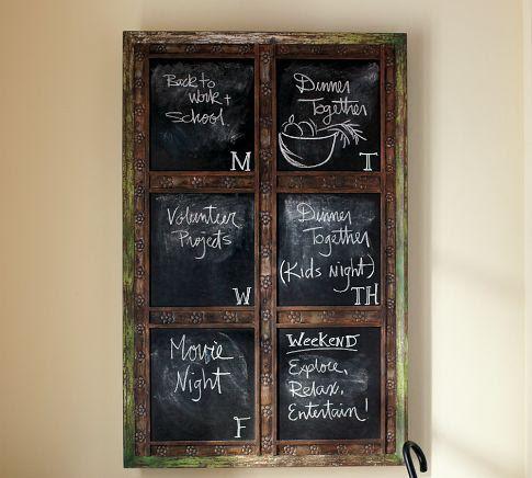 Laidley Wall-Mount Entryway Chalkboard | Pottery Barn