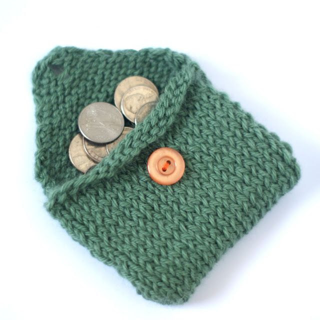 Knitted Change Purse