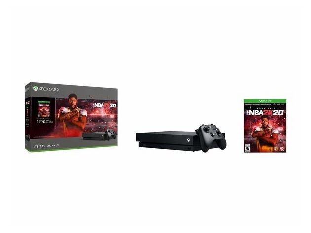 Microsoft Xbox One X 1TB Console with Wireless Controller and NBA 2K20 Bundle for $449